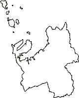 香川県坂出市(さかいでし)の白地図無料ダウンロード