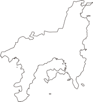 香川県小豆郡小豆島町(しょうどしまちょう)の白地図無料ダウンロード