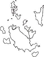 香川県香川郡直島町(なおしまちょう)の白地図無料ダウンロード