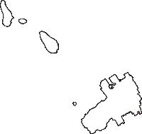 香川県仲多度郡多度津町(たどつちょう)の白地図無料ダウンロード