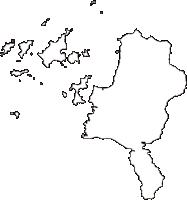 愛媛県松山市(まつやまし)の白地図無料ダウンロード