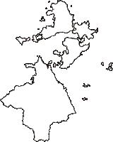 愛媛県今治市(いまばりし)の白地図無料ダウンロード
