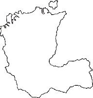 愛媛県新居浜市(にいはまし)の白地図無料ダウンロード