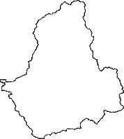 愛媛県東温市(とうおんし)の白地図無料ダウンロード