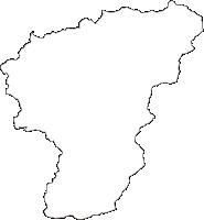愛媛県上浮穴郡久万高原町(くまこうげんちょう)の白地図無料ダウンロード