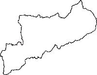 愛媛県北宇和郡鬼北町(きほくちょう)の白地図無料ダウンロード