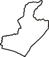 高知県安芸郡田野町(たのちょう)の白地図無料ダウンロード
