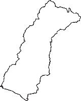 高知県安芸郡安田町(やすだちょう)の白地図無料ダウンロード