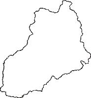 高知県安芸郡北川村(きたがわむら)の白地図無料ダウンロード