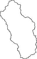 高知県長岡郡本山町(もとやまちょう)の白地図無料ダウンロード