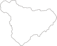 高知県長岡郡大豊町(おおとよちょう)の白地図無料ダウンロード
