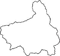 高知県土佐郡土佐町(とさちょう)の白地図無料ダウンロード