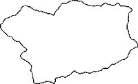 高知県土佐郡大川村(おおかわむら)の白地図無料ダウンロード