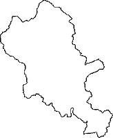 高知県吾川郡いの町(いのちょう)の白地図無料ダウンロード