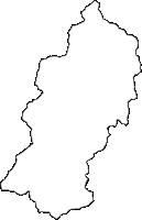 高知県吾川郡仁淀川町(によどがわちょう)の白地図無料ダウンロード