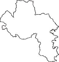 高知県高岡郡中土佐町(なかとさちょう)の白地図無料ダウンロード