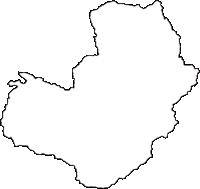 高知県高岡郡佐川町(さかわちょう)の白地図無料ダウンロード