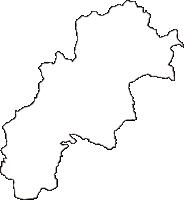 高知県高岡郡越知町(おちちょう)の白地図無料ダウンロード