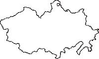 高知県高岡郡四万十町(しまんとちょう)の白地図無料ダウンロード