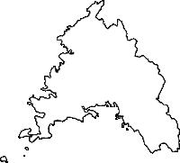 高知県幡多郡大月町(おおつきちょう)の白地図無料ダウンロード
