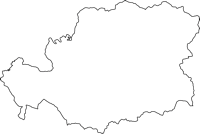 高知県幡多郡三原村(みはらむら)の白地図無料ダウンロード