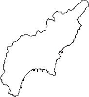 高知県幡多郡黒潮町(くろしおちょう)の白地図無料ダウンロード