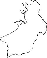 福岡県遠賀郡芦屋町(あしやまち)の白地図無料ダウンロード