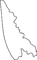 福岡県遠賀郡水巻町(みずまきまち)の白地図無料ダウンロード