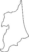 福岡県遠賀郡遠賀町(おんがちょう)の白地図無料ダウンロード