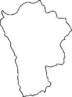 福岡県鞍手郡鞍手町(くらてまち)の白地図無料ダウンロード