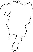 福岡県嘉穂郡桂川町(けいせんまち)の白地図無料ダウンロード