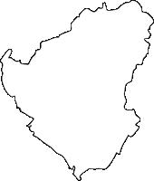 福岡県朝倉郡筑前町(ちくぜんまち)の白地図無料ダウンロード