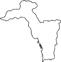 福岡県朝倉郡東峰村(とうほうむら)の白地図無料ダウンロード