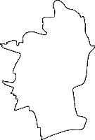 福岡県三潴郡大木町(おおきまち)の白地図無料ダウンロード