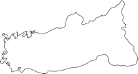福岡県八女郡広川町(ひろかわまち)の白地図無料ダウンロード