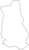 福岡県田川郡香春町(かわらまち)の白地図無料ダウンロード