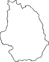 福岡県田川郡添田町(そえだまち)の白地図無料ダウンロード