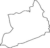福岡県田川郡糸田町(いとだまち)の白地図無料ダウンロード