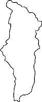 福岡県田川郡川崎町(かわさきまち)の白地図無料ダウンロード