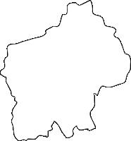 福岡県田川郡福智町(ふくちまち)の白地図無料ダウンロード