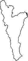 福岡県京都郡みやこ町(みやこまち)の白地図無料ダウンロード