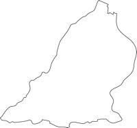 福岡県築上郡上毛町(こうげまち)の白地図無料ダウンロード