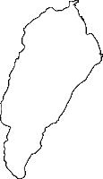 福岡県築上郡築上町(ちくじょうまち)の白地図無料ダウンロード