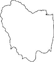 佐賀県鳥栖市(とすし)の白地図無料ダウンロード