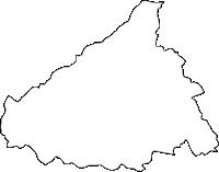 佐賀県多久市(たくし)の白地図無料ダウンロード