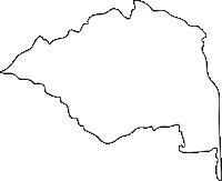 佐賀県三養基郡基山町(きやまちょう)の白地図無料ダウンロード