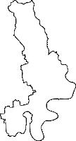 佐賀県三養基郡みやき町(みやきちょう)の白地図無料ダウンロード
