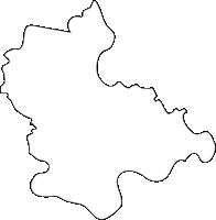 佐賀県杵島郡江北町(こうほくまち)の白地図無料ダウンロード