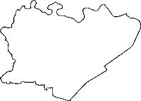 佐賀県杵島郡白石町(しろいしちょう)の白地図無料ダウンロード