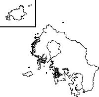長崎県佐世保市(させぼし)の白地図無料ダウンロード